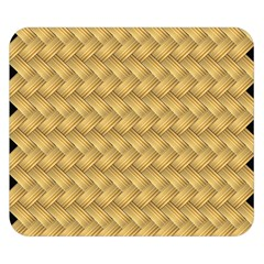 Wood Illustrator Yellow Brown Double Sided Flano Blanket (Small)