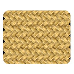 Wood Illustrator Yellow Brown Double Sided Flano Blanket (Large)