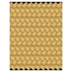 Wood Illustrator Yellow Brown Drawstring Bag (Large)