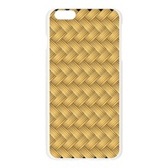Wood Illustrator Yellow Brown Apple Seamless iPhone 6 Plus/6S Plus Case (Transparent)