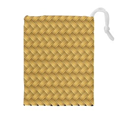 Wood Illustrator Yellow Brown Drawstring Pouches (extra Large)