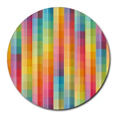 Background Colorful Abstract Round Mousepads