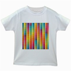 Background Colorful Abstract Kids White T-Shirts