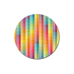 Background Colorful Abstract Magnet 3  (Round)