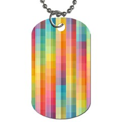 Background Colorful Abstract Dog Tag (one Side)