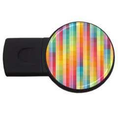 Background Colorful Abstract USB Flash Drive Round (2 GB)