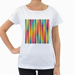 Background Colorful Abstract Women s Loose-Fit T-Shirt (White)