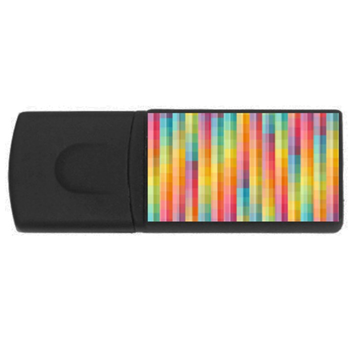 Background Colorful Abstract USB Flash Drive Rectangular (4 GB)