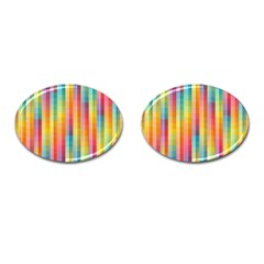 Background Colorful Abstract Cufflinks (Oval)