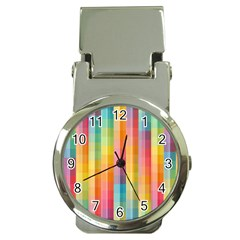 Background Colorful Abstract Money Clip Watches