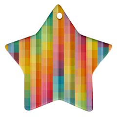 Background Colorful Abstract Star Ornament (two Sides)