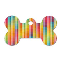 Background Colorful Abstract Dog Tag Bone (Two Sides)