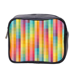 Background Colorful Abstract Mini Toiletries Bag 2-Side