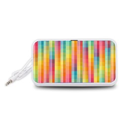 Background Colorful Abstract Portable Speaker (White)