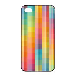 Background Colorful Abstract Apple Iphone 4/4s Seamless Case (black)