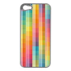 Background Colorful Abstract Apple iPhone 5 Case (Silver)