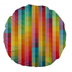 Background Colorful Abstract Large 18  Premium Round Cushions