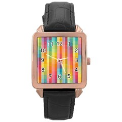 Background Colorful Abstract Rose Gold Leather Watch