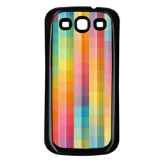 Background Colorful Abstract Samsung Galaxy S3 Back Case (Black)
