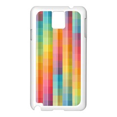Background Colorful Abstract Samsung Galaxy Note 3 N9005 Case (white)