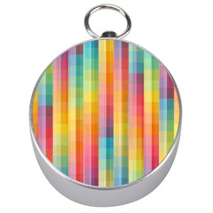 Background Colorful Abstract Silver Compasses