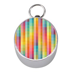 Background Colorful Abstract Mini Silver Compasses