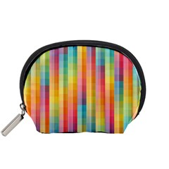 Background Colorful Abstract Accessory Pouches (Small)