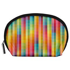 Background Colorful Abstract Accessory Pouches (Large)