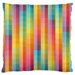 Background Colorful Abstract Large Flano Cushion Case (one Side)