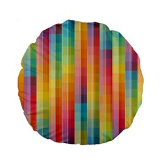 Background Colorful Abstract Standard 15  Premium Flano Round Cushions