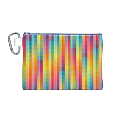 Background Colorful Abstract Canvas Cosmetic Bag (M)