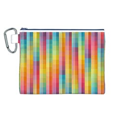 Background Colorful Abstract Canvas Cosmetic Bag (L)