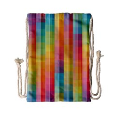 Background Colorful Abstract Drawstring Bag (small)