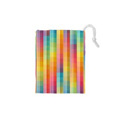 Background Colorful Abstract Drawstring Pouches (XS)