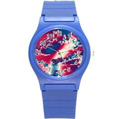 Sky pattern Round Plastic Sport Watch (S)