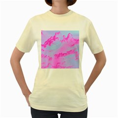 Sky pattern Women s Yellow T-Shirt