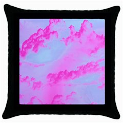 Sky pattern Throw Pillow Case (Black)