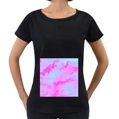 Sky pattern Women s Loose-Fit T-Shirt (Black)