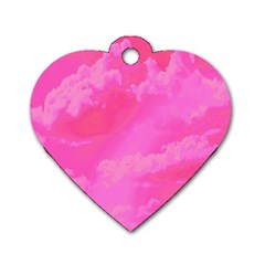 Sky pattern Dog Tag Heart (One Side)