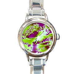 Sky pattern Round Italian Charm Watch