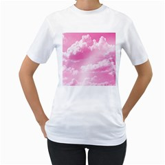 Sky pattern Women s T-Shirt (White) (Two Sided)