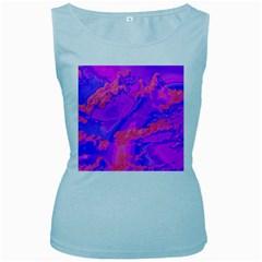 Sky pattern Women s Baby Blue Tank Top