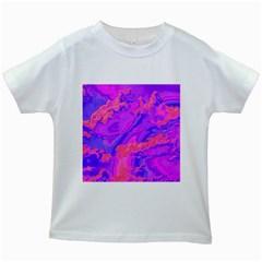 Sky pattern Kids White T-Shirts