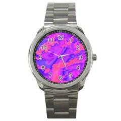 Sky pattern Sport Metal Watch