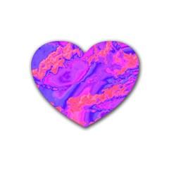 Sky pattern Rubber Coaster (Heart)