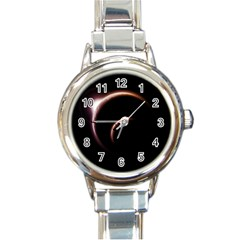 Planet Space Abstract Round Italian Charm Watch