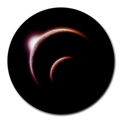 Planet Space Abstract Round Mousepads