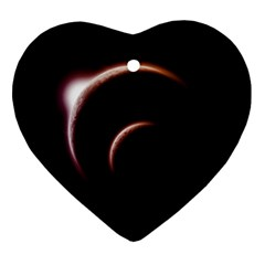 Planet Space Abstract Ornament (heart)