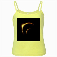 Planet Space Abstract Yellow Spaghetti Tank