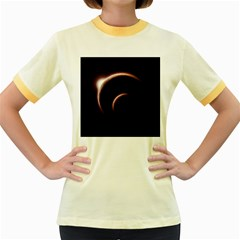 Planet Space Abstract Women s Fitted Ringer T Shirts